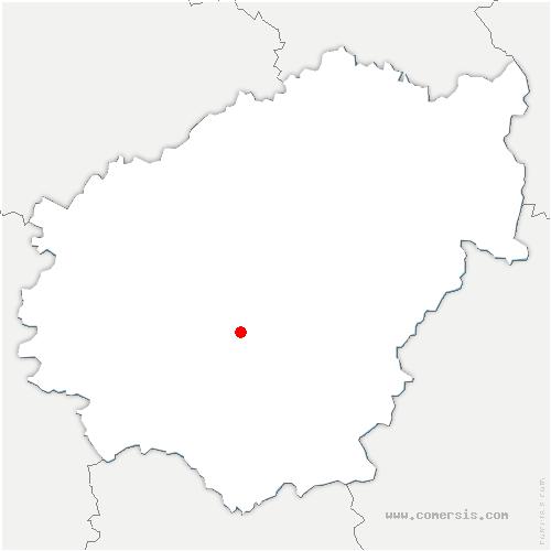 carte de localisation de Laguenne-sur-Avalouze