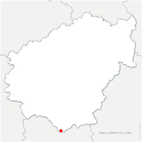 carte de localisation de Liourdres