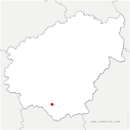 carte de localisation de Marcillac-la-Croze