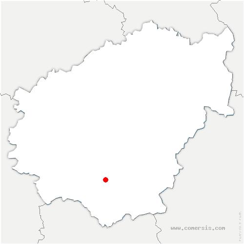 carte de localisation de Ménoire