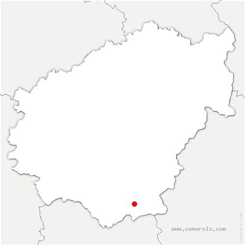 carte de localisation de Mercœur