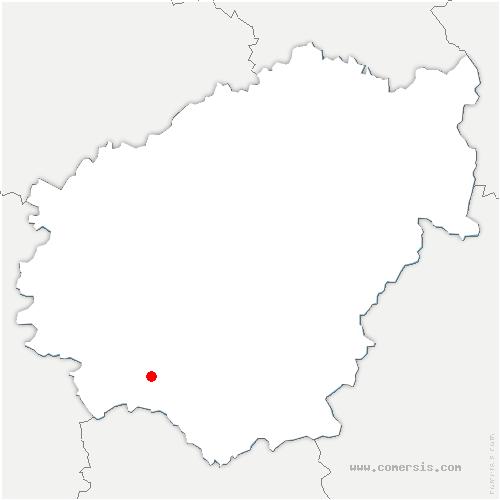 carte de localisation de Noailhac