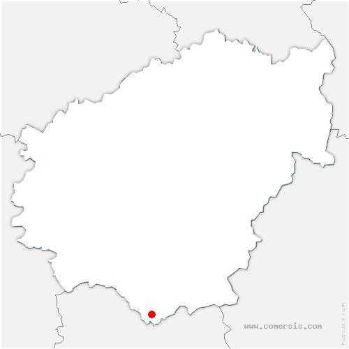 carte de localisation de Queyssac-les-Vignes