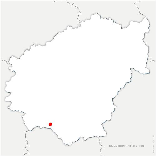carte de localisation de Saillac