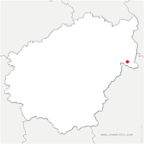 carte de localisation de Sarroux-Saint-Julien