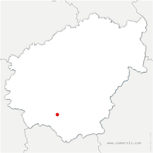 carte de localisation de Sérilhac