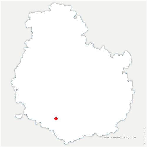 carte de localisation de Antigny-la-Ville