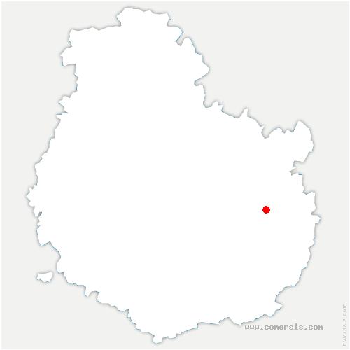 carte de localisation de Arc-sur-Tille