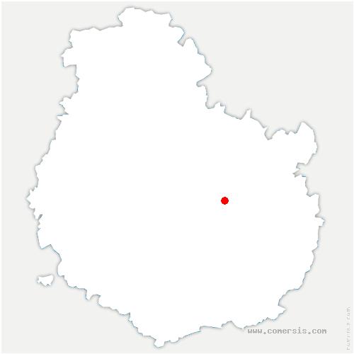 carte de localisation de Asnières-lès-Dijon