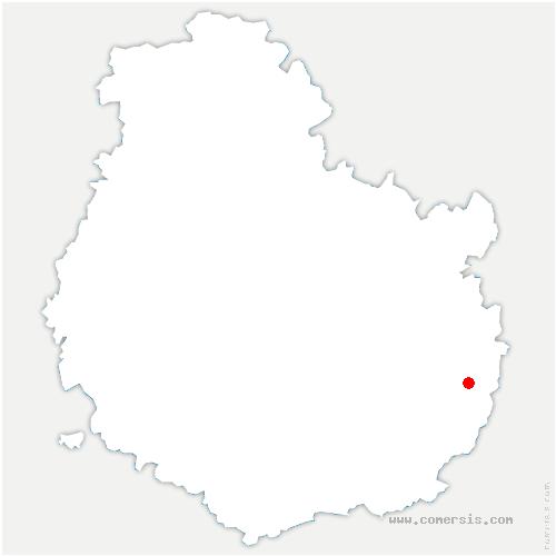 carte de localisation de Athée