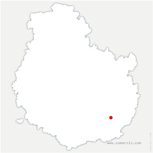 carte de localisation de Aubigny-en-Plaine