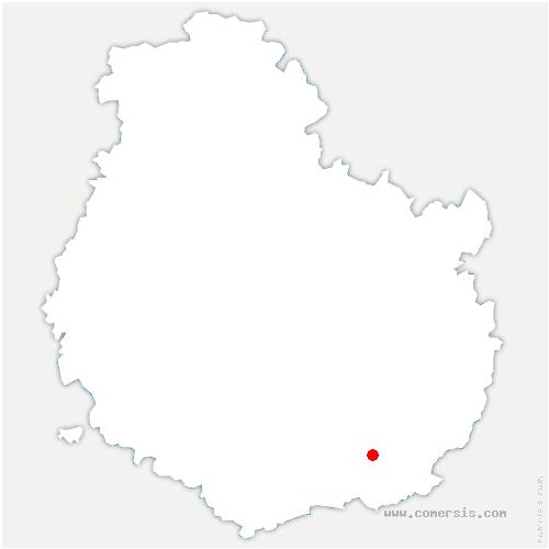 carte de localisation de Bagnot