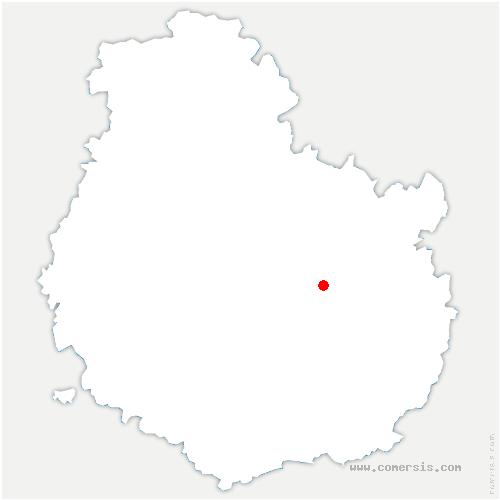 carte de localisation de Bellefond