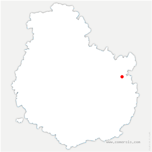 carte de localisation de Bèze