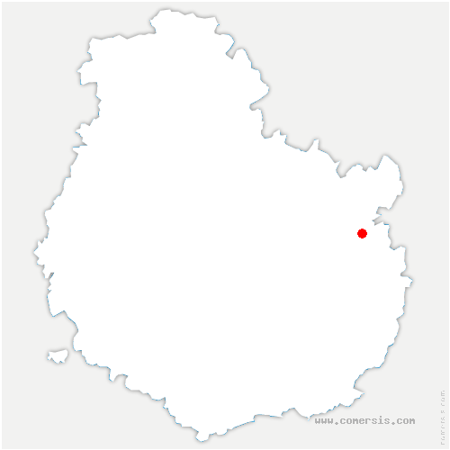 carte de localisation de Blagny-sur-Vingeanne