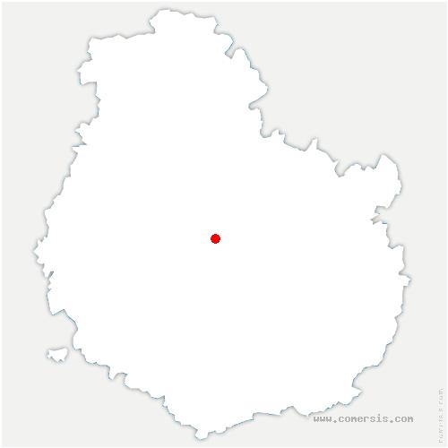 carte de localisation de Bligny-le-Sec
