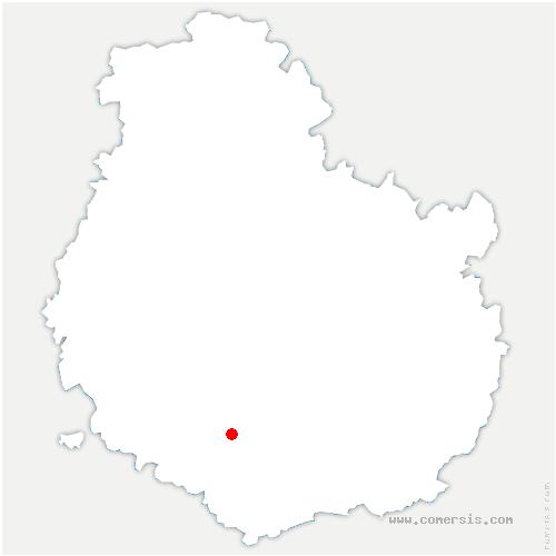 carte de localisation de Bligny-sur-Ouche