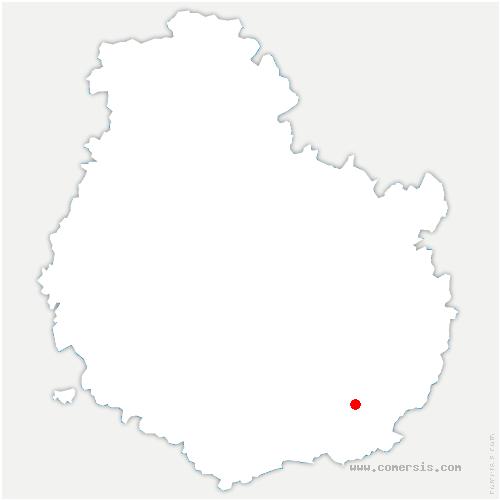 carte de localisation de Bonnencontre