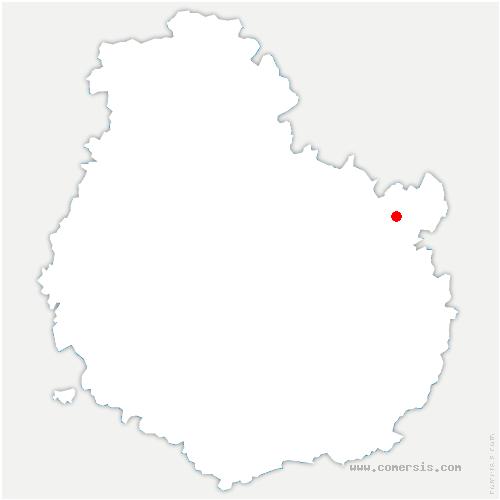carte de localisation de Bourberain