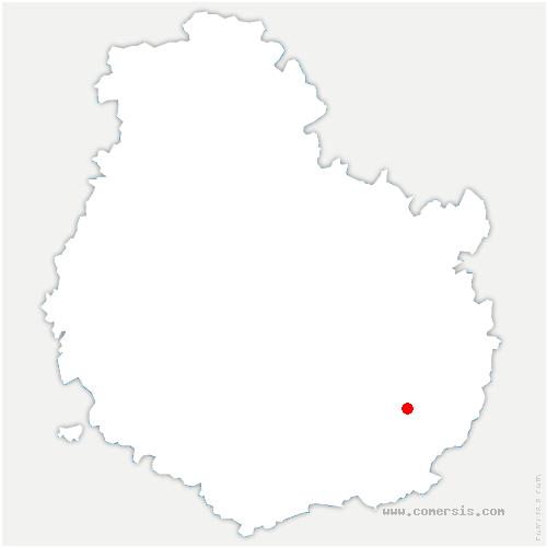 carte de localisation de Brazey-en-Plaine