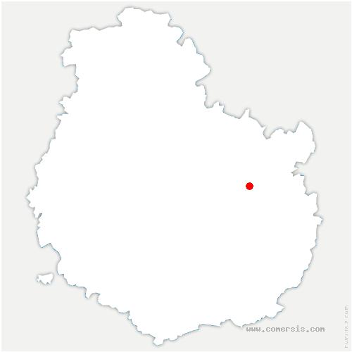 carte de localisation de Brognon