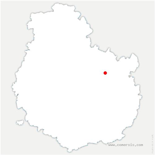 carte de localisation de Chaignay