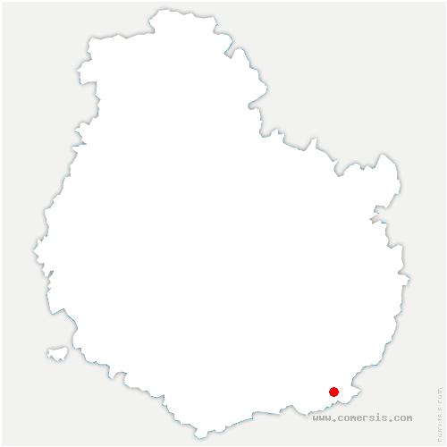 carte de localisation de Chamblanc