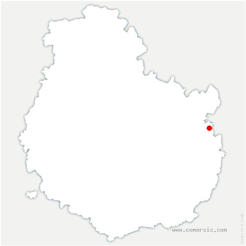carte de localisation de Champagne-sur-Vingeanne