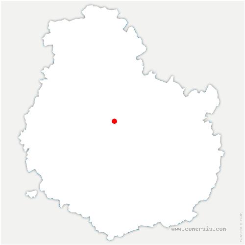 carte de localisation de Champagny