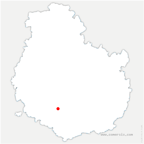 carte de localisation de Chaudenay-la-Ville