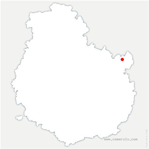 carte de localisation de Chaume-et-Courchamp