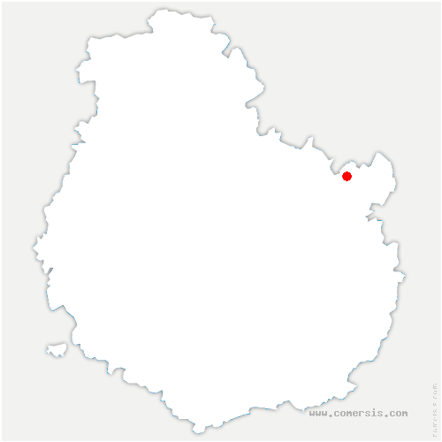 carte de localisation de Chazeuil