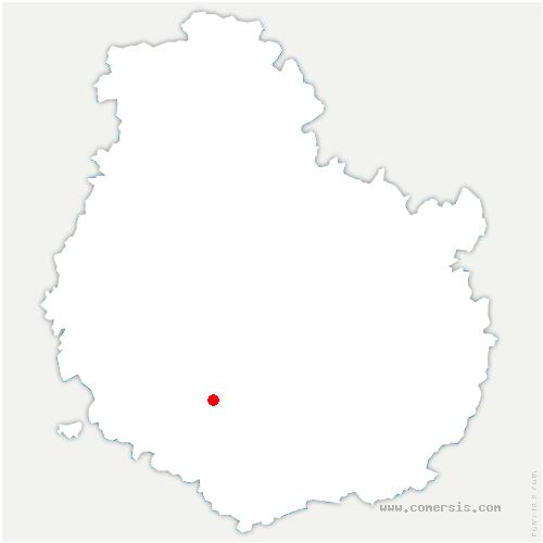 carte de localisation de Chazilly