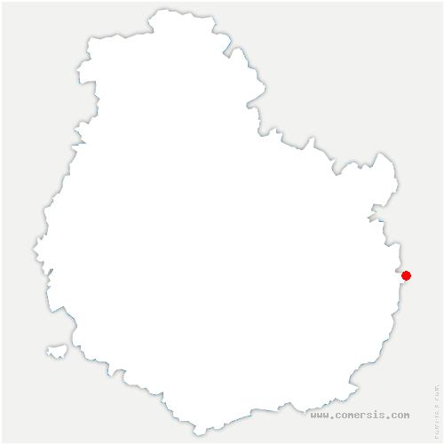carte de localisation de Cléry