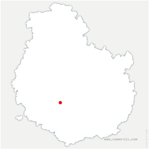 carte de localisation de Commarin