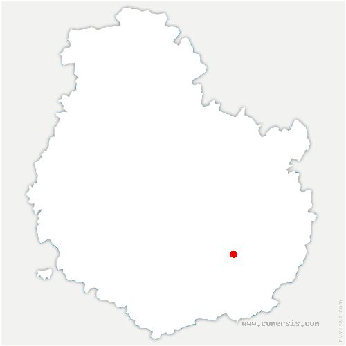 carte de localisation de Corcelles-lès-Cîteaux