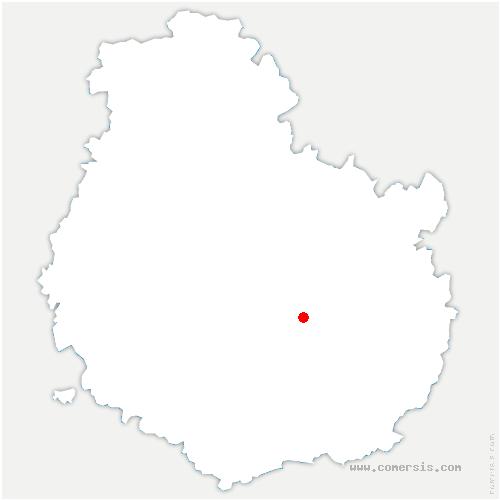carte de localisation de Corcelles-les-Monts