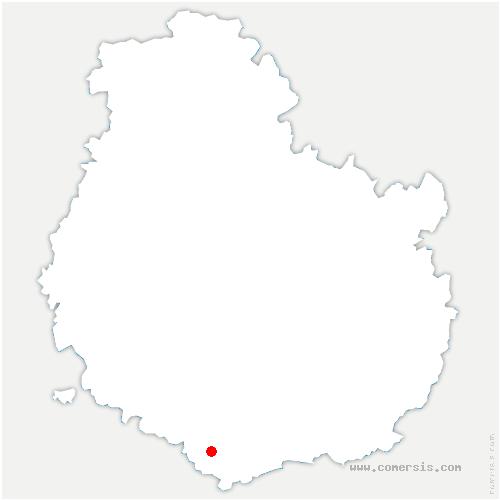 carte de localisation de Cormot-Vauchignon