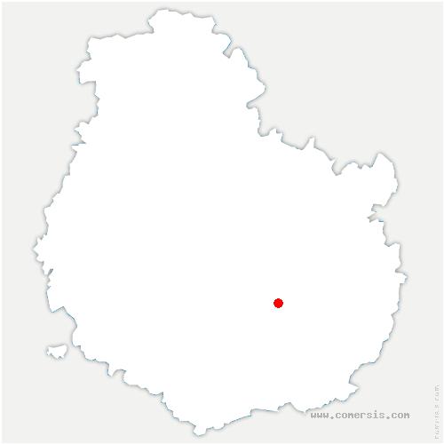 carte de localisation de Couchey
