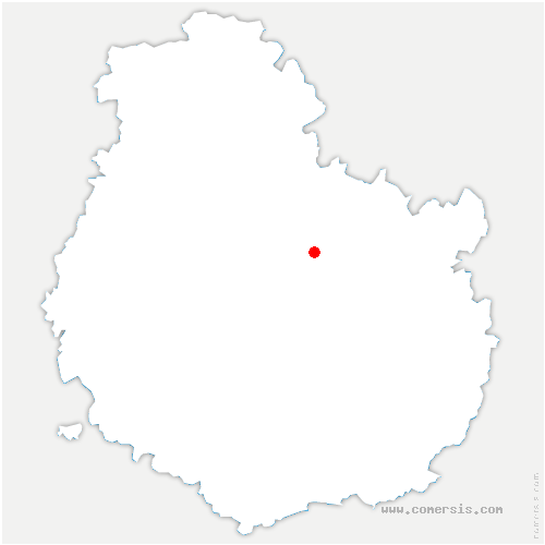 carte de localisation de Courtivron