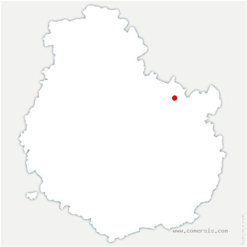 carte de localisation de Crécey-sur-Tille
