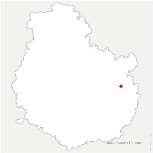 carte de localisation de Cuiserey