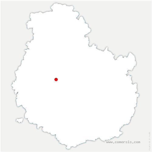 carte de localisation de Dampierre-en-Montagne