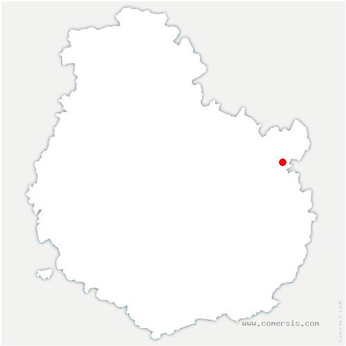 carte de localisation de Dampierre-et-Flée