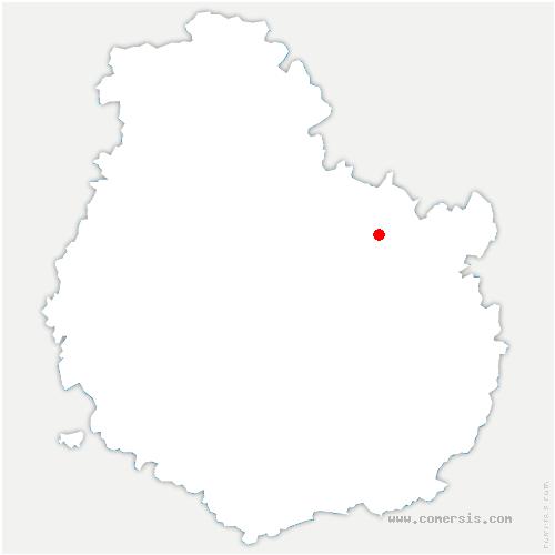 carte de localisation de Échevannes