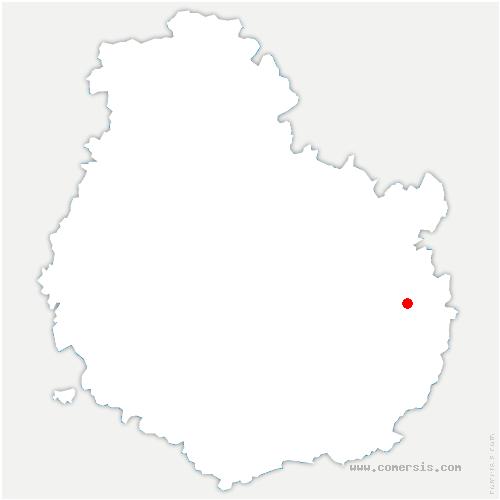 carte de localisation de Étevaux