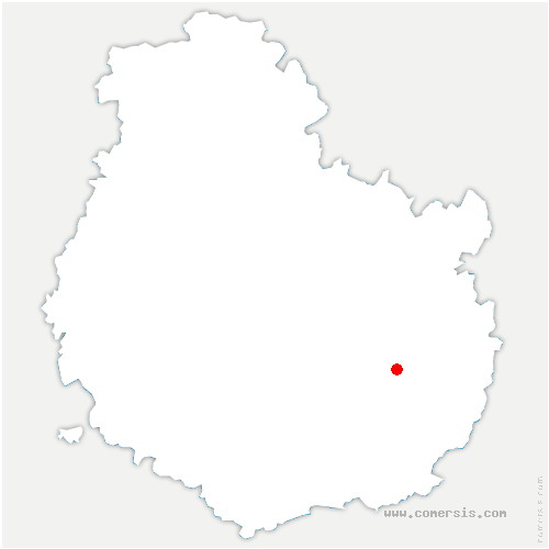 carte de localisation de Fauverney