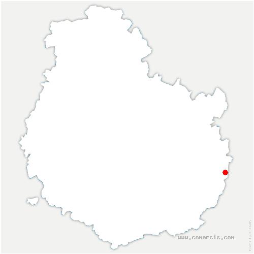 carte de localisation de Flammerans