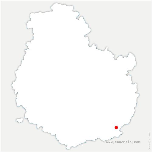 carte de localisation de Franxault