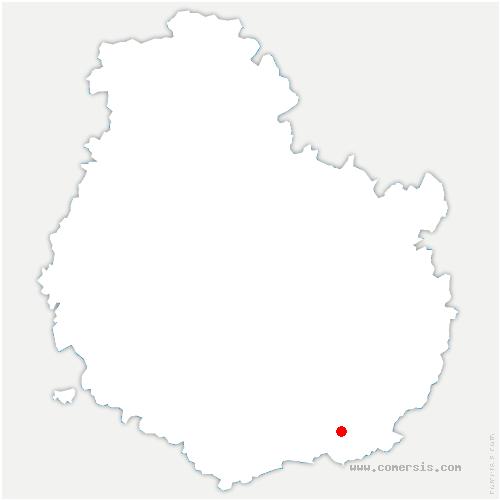 carte de localisation de Glanon